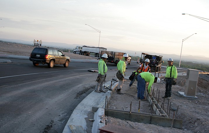 In 2018, ADOT crews nearly completed a $62 million road widening and improvement project. In mid-April, ADOT will finish paving the nine-mile stretch of highway between I-17 and Thousand Trails Road. VVN/Bill Helm