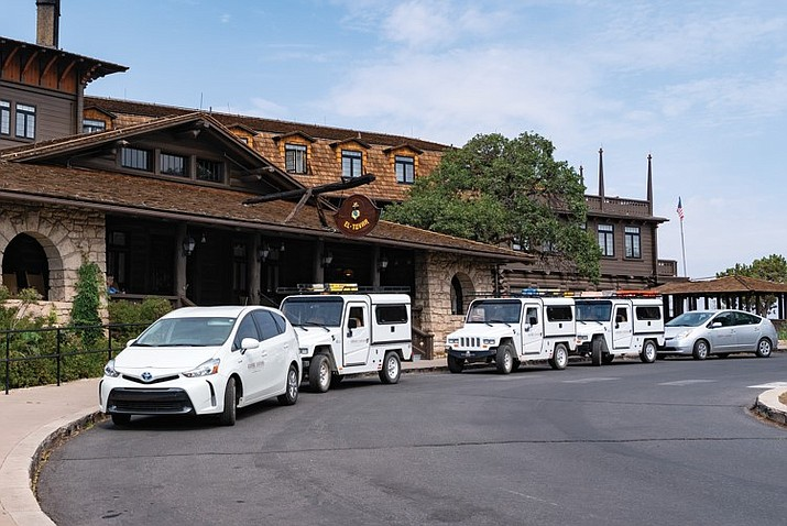 Grand Canyon National Park Lodges has replaced aging vehicles in its fleet with hybrid or all-electric vehicles and plans to add more over the next three years. (Photo courtesy of Xanterra)