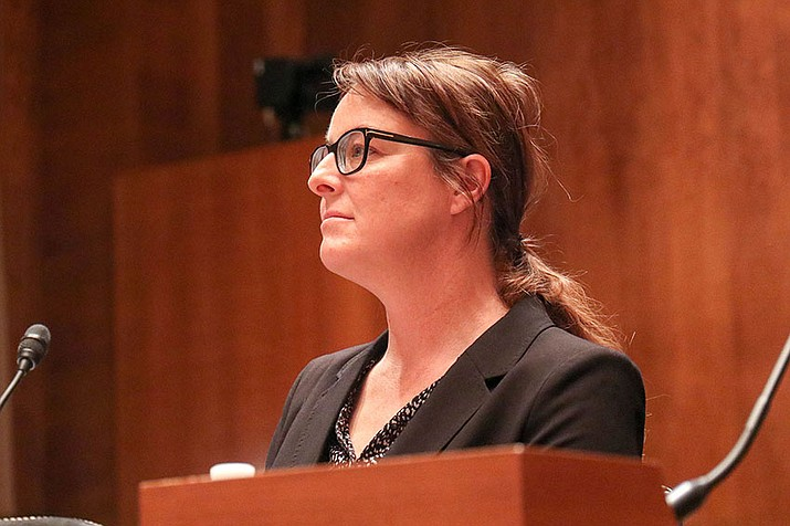 Jane Bambauer, a University of Arizona law professor, cautioned a Senate committee against going too far to protect personal digital data, saying they could end up hurting consumers. (Photo by Andrew Howard/Cronkite News)