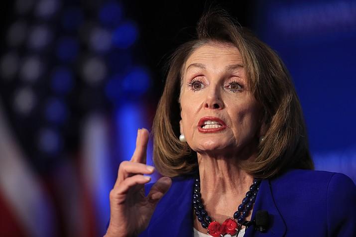 House Speaker Nancy Pelosi of Calif., speaks at an Economic Club of Washington luncheon gathering in Washington, Friday, March 8, 2019. (Manuel Balce Ceneta/AP)