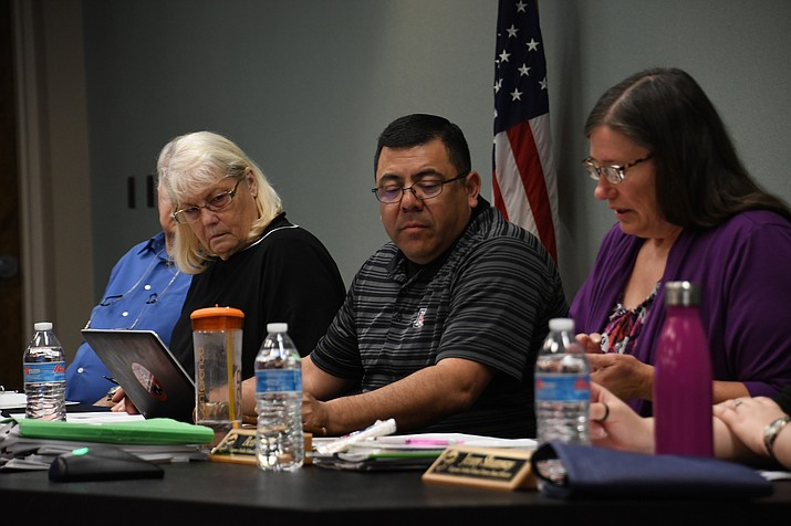 Kingman Unified School District School Board heard from consultant companies in regards to the process for the bond the district is looking to get for 2019 or 2020. (Photo by Vanessa Espinoza/Daily Miner)