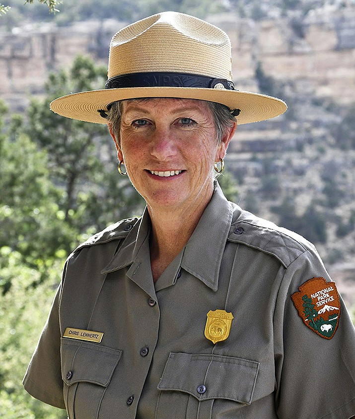 This May 19, 2018 file photo released by the National Park Service shows Grand Canyon National Park Superintendent, Christine Lehnertz at Grand Canyon National Park. Lehnertz has not returned to her job nearly a month after being cleared of accusations she created a hostile work environment, improperly disciplined an employee and wasted park resources. The park announced last month that the investigation by the Interior Department's Office of Inspector General fully exonerated Lehnertz. The allegations were made public Tuesday, March 5, 2019, when the office released its investigative report. (Michael Quinn/National Park Service, File)