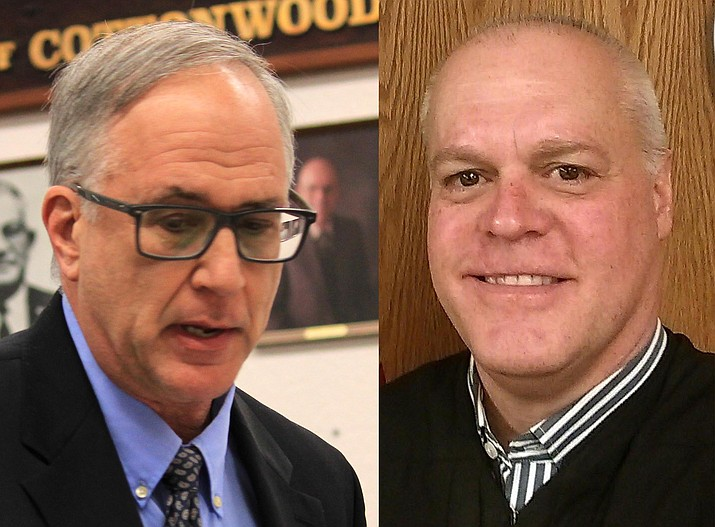 Current Cottonwood Magistrate Douglas LaSota (left) and Verde Valley Justice of the Peace William Lundy are two of the five finalists for the position currently held by LaSota. VVN file photos