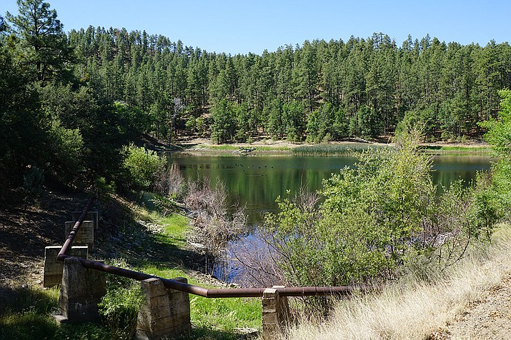 The scenic Lower Goldwater Lake, which has been closed to the public for decades, is expected to be opened for recreational uses within the next year or so. On Tuesday, March 12, the Prescott City Council approved a contract for the design of amenities including a day use ramada, restrooms, additional parking spaces, and a ceremony pad. (Cindy Barks/Courier, file)