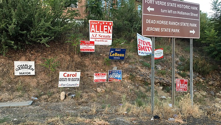 Camp Verde considers banning political signs in commercial tourism zones