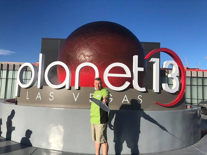 Rickety Cricket Brewing owner Terry Thomson stands in front of Plant 13 in Vegas. Rickety Cricket is expanding and will be opening a new location at Planet 13. (Photo courtesy of Rickety Cricket Brewing)