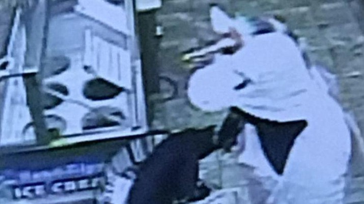 Baltimore County Police say a person dressed in a unicorn costume and wielding a crowbar tried to rob a convenience store Saturday morning in the Baldwin community. (Baltimore County Police Department)