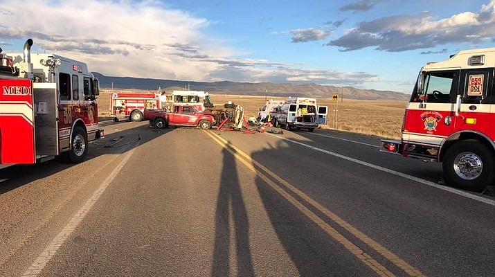7 people reportedly injured in 89A accident on Coyote Springs Road