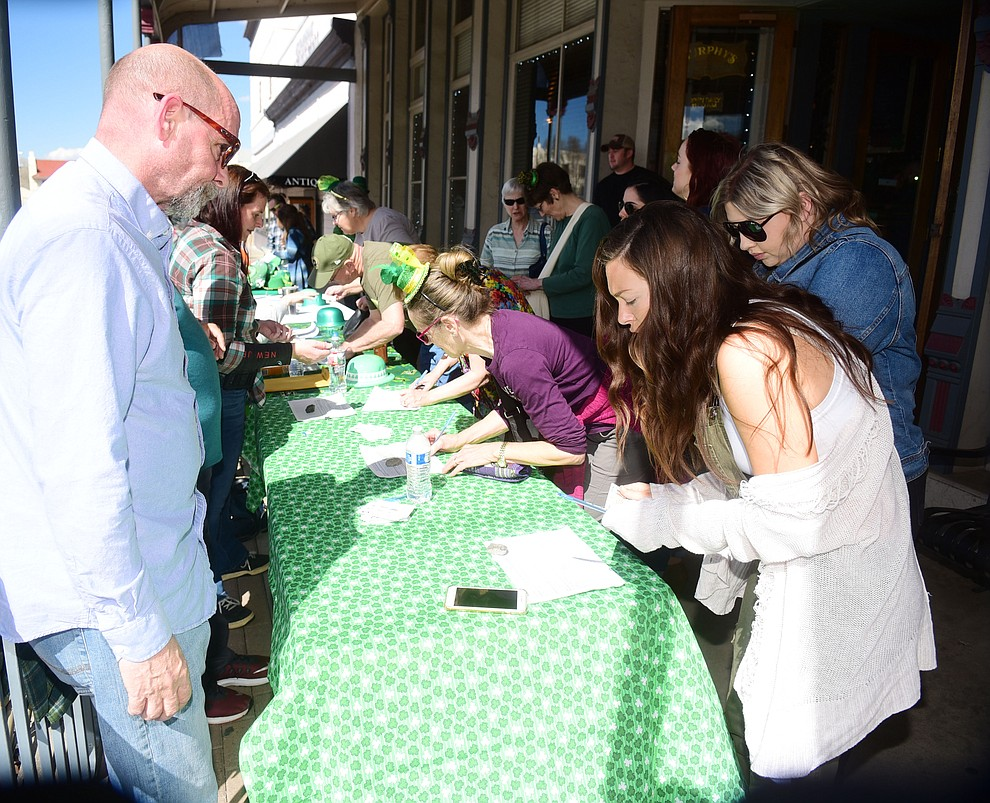 Close to 1000 people signed up for the 2019 St. Patrick's Day Pub Crawl Sunday, March 17, 2019 in downtown Prescott. (Les Stukenberg/Courier)