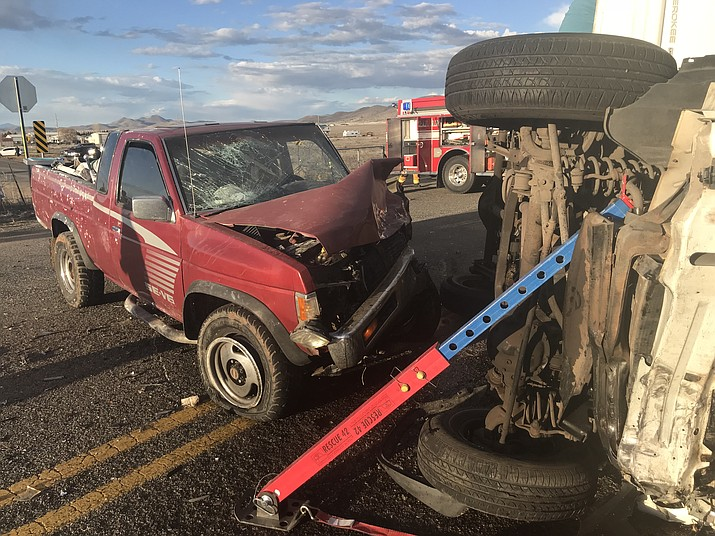 Seven people were injured and Highway 89A was closed for about four hours due to a crash on the north end of Prescott Valley Sunday night, March 17. (Town of Prescott Valley/Courtesy)