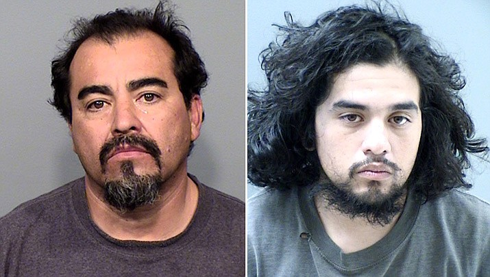 The Yavapai County Sheriff's Office reported Monday, March 18, that Robert Urzua, left, and his son Alex Urzua, right, were taken into custody after a vehicle and home were searched during the investigation of a stolen debit card that was used for merchandize, gasoline, and fast food, starting March 1, 2019. (YCSO)