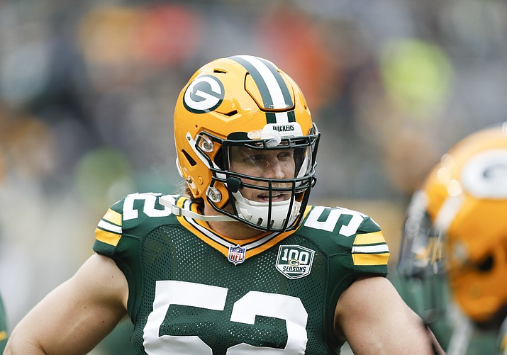 Green Bay Packers' Clay Matthews is seen during the first half of an NFL football game against the Detroit Lions Sunday, Dec. 30, 2018, in Green Bay, Wis. The Packers won 34-20. (Matt Ludtke/AP)