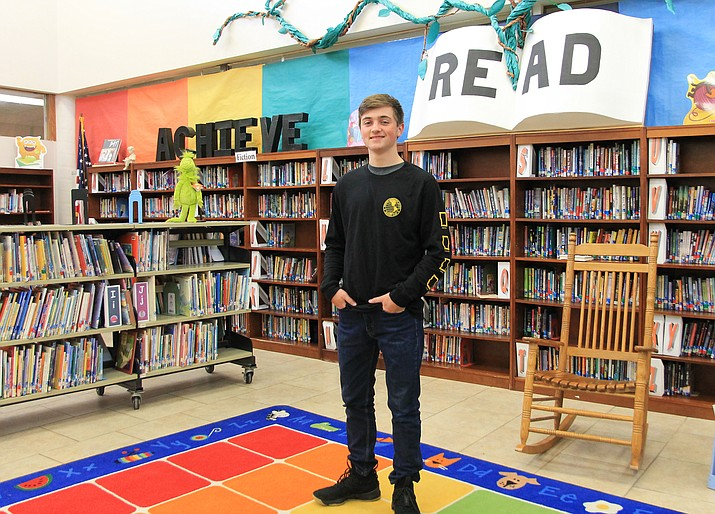 Williams Elementary-Middle School student Drew Logan has qualified for the 2019 Arizona GeoBee. (Wendy Howell/WGCN)