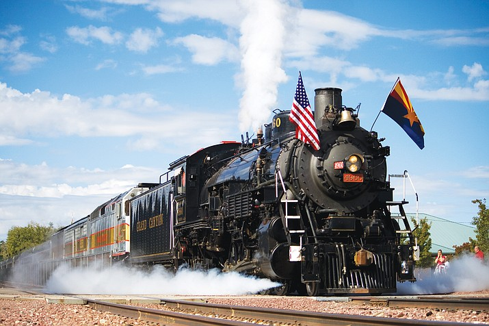 Williams historian Al Richmond will discuss the railroading history in Williams March 20 as part of Kaibab National Forest's Archaeology Month programming. (Grand Canyon Railway/photo)