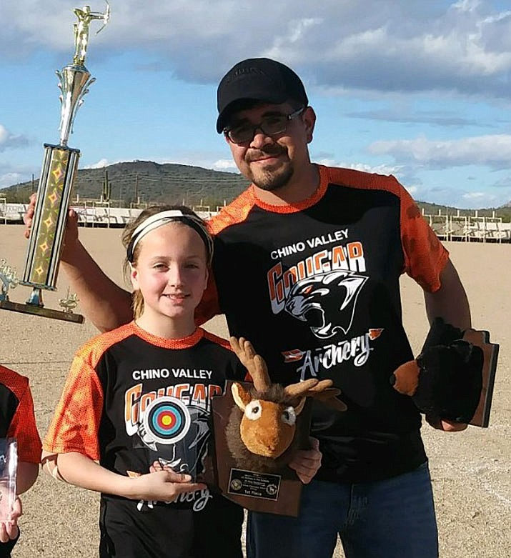 Bailey James, the Student of the Week, has also found success with archery. (CVUSD/Courtesy)