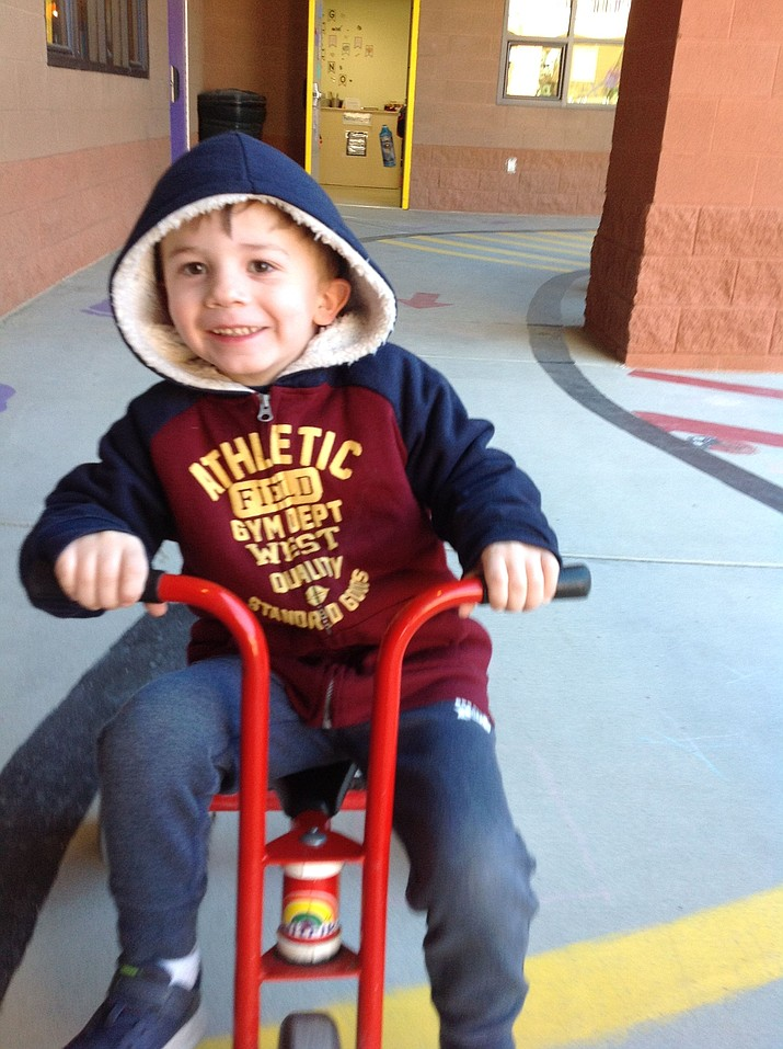 Owen from Bright Futures Preschool is this week's HUSD Student of the Week! (Courtesy)