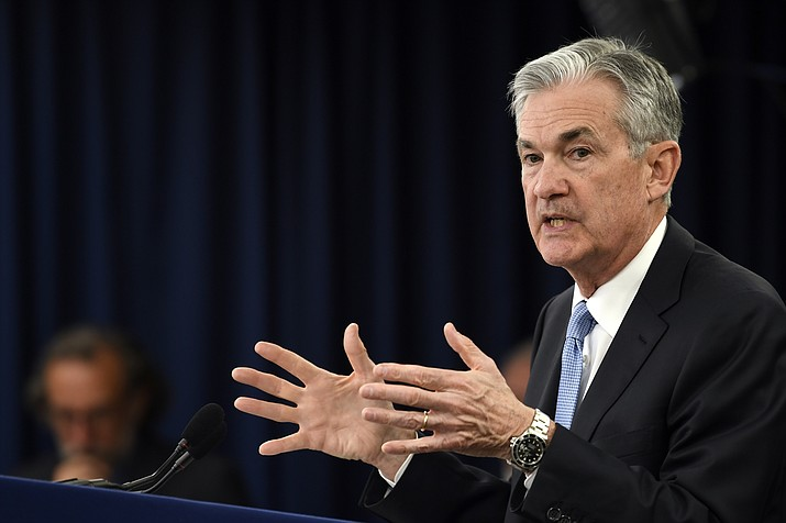 Federal Reserve Chair Jerome Powell speaks during a news conference in Washington, Wednesday, March 20, 2019. (Susan Walsh/AP)