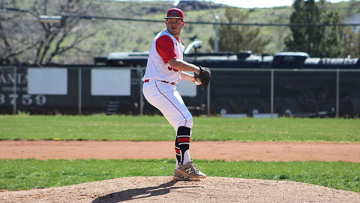 Matt Bathauer was dealing on the mound Thursday as the senior struck out 10 batters in 5 2/3 innings in Lee Williams' 8-1 win over Bradshaw Mountain. (Daily Miner file photo)