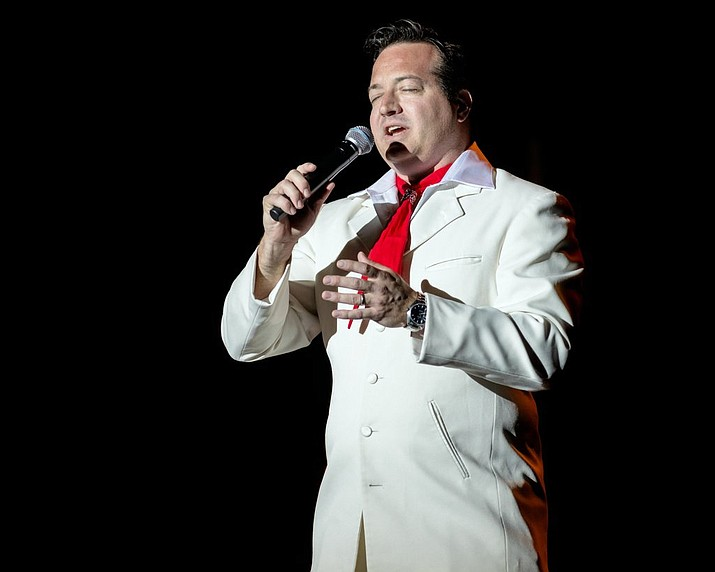"Robert Shaw is ""Elvis Presley,"" at the Elks Theatre and Performing Arts Center Saturday, March 23, for ""How Great Thou Art – The Gospel Music of Elvis Presley."" (Courtesy)"