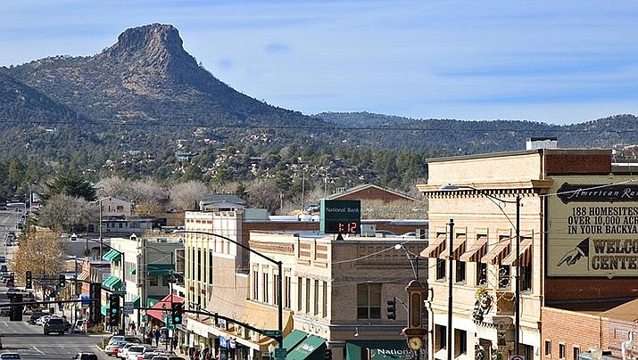 """Prescott's slogan of """"Everybody's Hometown"""" has a lot to do with a mine that was proposed for near Thumb Butte, according to a Prescott resident. (Courier file)"""