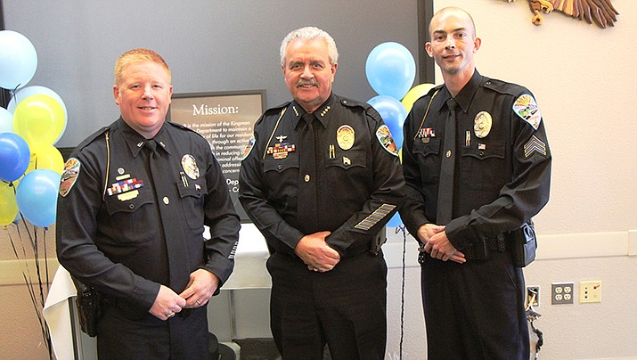 From left to right: Lieutenant Joel Freed, Police Chief Robert DeVries and Sergeant Jason Zerr. (Photo courtesy of KPD)