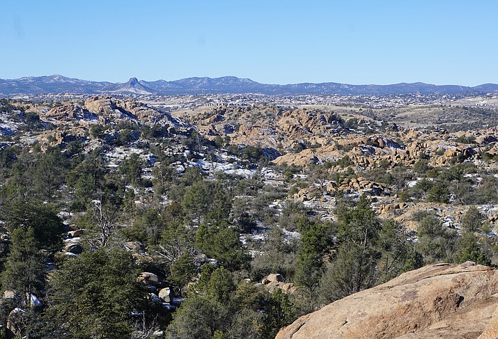 Prescott's Granite Dells area encompasses a vast patchwork of public and private lands. Over the years, the City of Prescott has bought and preserved the Dells-area Watson and Willow lakes, as well as about 424 acres of Dells open space, including a 160-acre tract of the Storm Ranch, pictured here. (Cindy Barks/Courier)