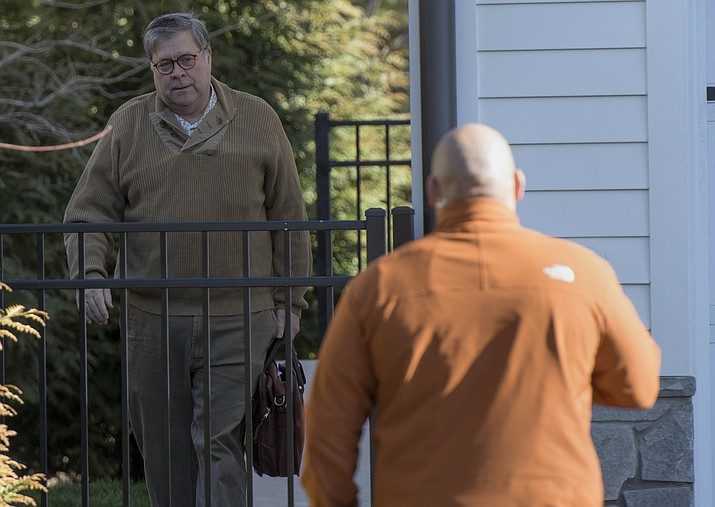 Attorney General William Barr leaves his home in McLean, Va., on Saturday morning, March 23, 2019. Special counsel Robert Mueller closed his long and contentious Russia investigation with no new charges, ending the probe that has cast a dark shadow over Donald Trump's presidency. (Sait Serkan Gurbuz/AP)