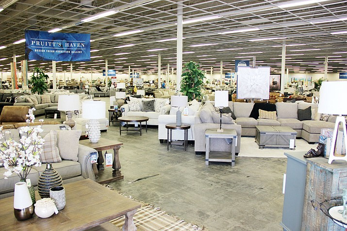 Pruitt's Fine Furniture is utilizing the entire 100,000 square feet of space inside the former K-Mart building in Prescott Valley to showcase and store its furniture. (Max Efrein/Courier)