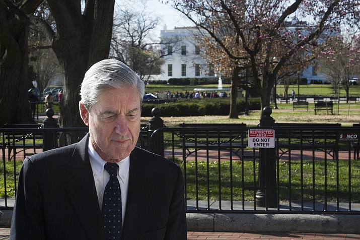 Special Counsel Robert Mueller walks past the White House after attending services at St. John's Episcopal Church, in Washington, Sunday, March 24, 2019. Mueller closed his long and contentious Russia investigation with no new charges, ending the probe that has cast a dark shadow over Donald Trump's presidency. (Cliff Owen/AP)