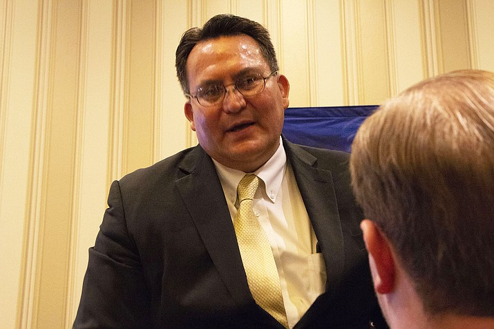 Dwight Witherspoon, a member of the Navajo Nation, told an audience at the Conservative Political Action Conference that conservatives and Native Americans have similar values. (Photo by Keerthi Vedantam/Cronkite)