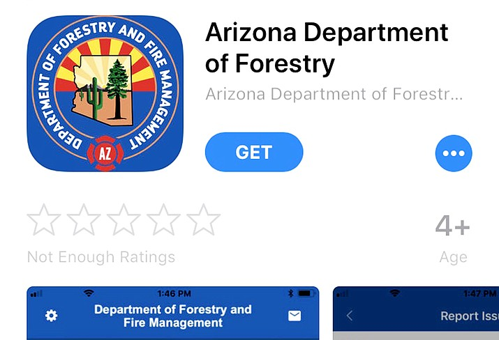 A new free mobile app can be found for IOS users on iTunes and Google Play for Android users and by searching Arizona Department of Forestry and Fire Management. (Screenshot)