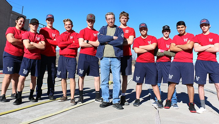 Next generation of local firefighters mentored by Yavapai College fire academy graduate Ron Chilston