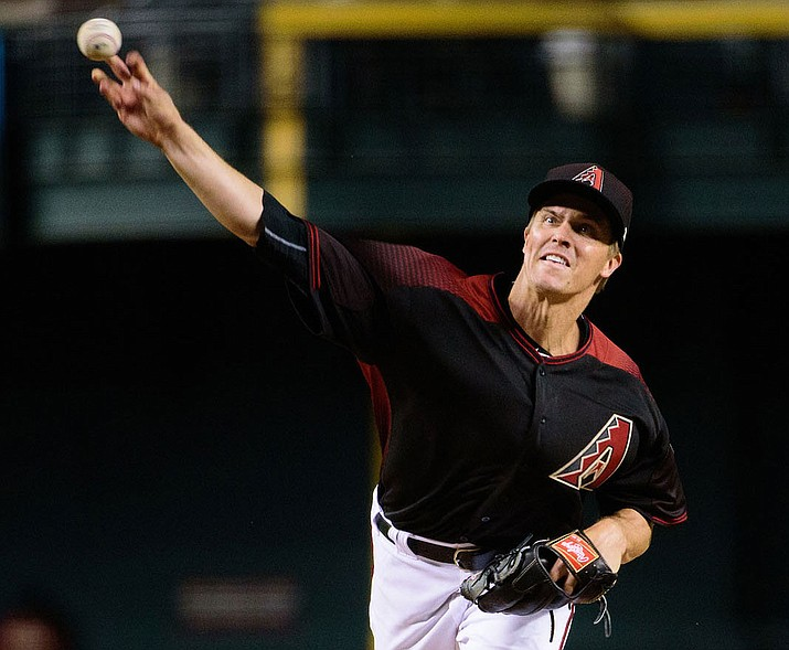 Zack Greinke will take the mound Thursday as the D-backs open the season on the road against the Dodgers. (File photo courtesy of Kelsey Grant/Arizona Diamondbacks)