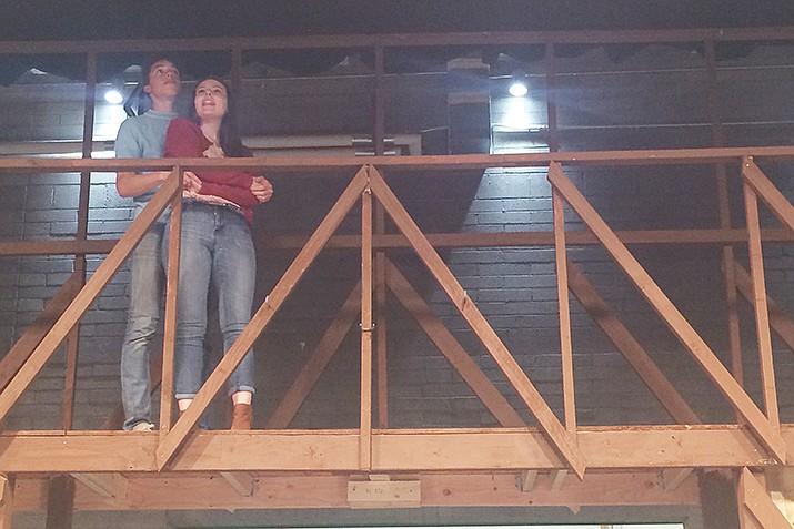 "Kirsten Cordova and Isaiah Carman as Ariel and Ren in Prescott High School's production of ""Footloose."" (Jason Wheeler/Courier)"