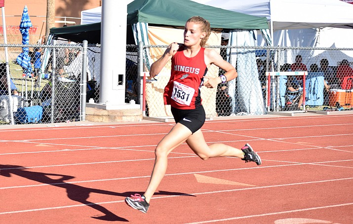 Mingus senior Meg Babcock sits atop Arizona's Division 3 rankings in the 800, a full 5 seconds ahead of her longtime rival and three-time defending 800-meter state champion, Samantha Schadler of Rio Rico High School. All divisions combined, Babcock has the fourth fastest time in Arizona this year. VVN file photo