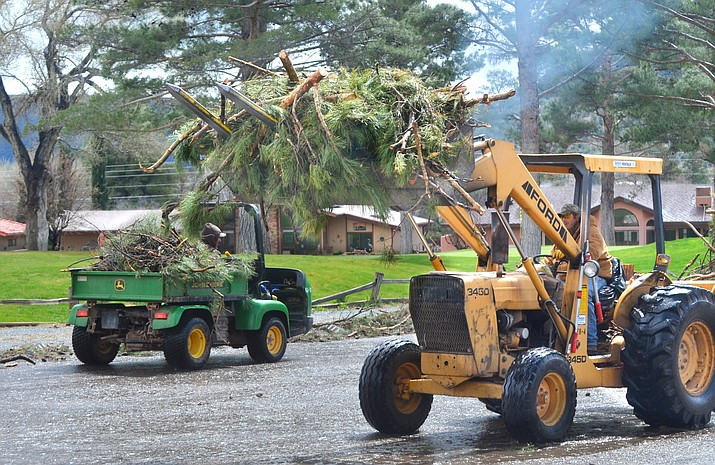 Staff and crews with chainsaws have finally completed cleaning up 300 tons of debris that damaged almost 1,000 trees at the Trent Jones-designed golf course known for its tree-lined fairways, explained Heather Risk, head golf professional at Oakcreek.