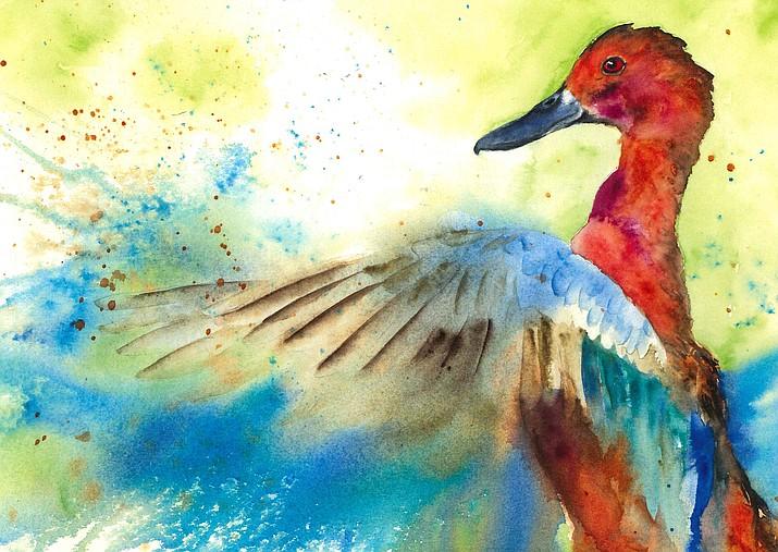 """Splash,"" watercolor by Michelle Haveri."