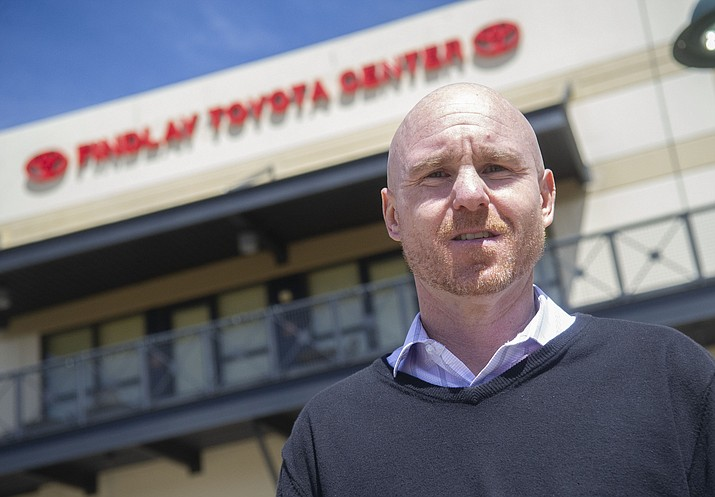 Findlay Toyota Center General Manager Shane Cadwell on Thursday, March 27, in Prescott Valley. (Les Stukenberg/Courier)