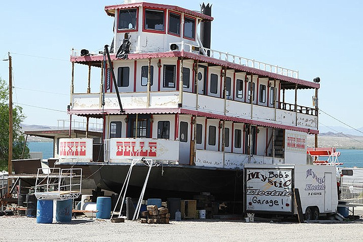 The Dixie Belle rests in a vacant lot on Kiowa Boulevard where it was undergoing repairs as shown in this photo from 2015. (Today's News Herald file photo)