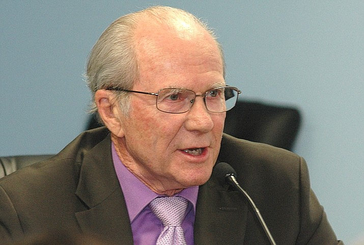 Bob Burns has actively sought disclosure of campaign funds for the Corporation Commission elections. Only recently did Arizona Public Service release its campaign contributions; $10.7 million in the 2014 election. (Capitol Media Services, 2017 file photo/Howard Fischer)