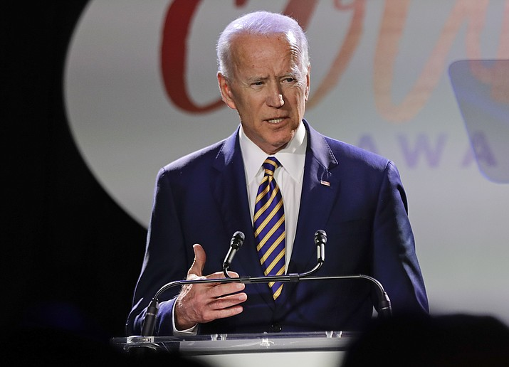 Former Vice President Joe Biden speaks at the Biden Courage Awards Tuesday, March 26, 2019, in New York. (Frank Franklin II/AP)