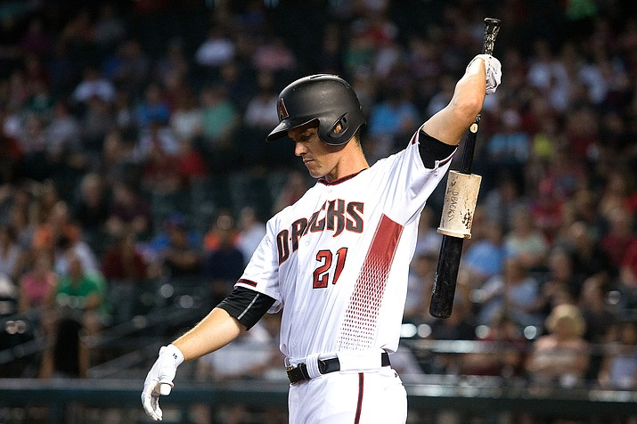 D-backs pitcher Zack Greinke hit home runs in the fourth and sixth innings Tuesday night in an 8-5 win over the Padres. (File photo courtesy of Sarah Sachs/Arizona Diamondbacks)
