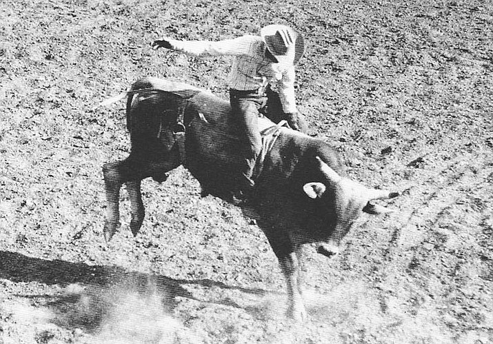 Eddie January competes in the Williams Rodeo in 1950. His brother, Jake January was one of the founding members of the Bill Williams Mountain Men. (Photo/Williams Historic Photo Project, courtesy of Eddie Sandoval)