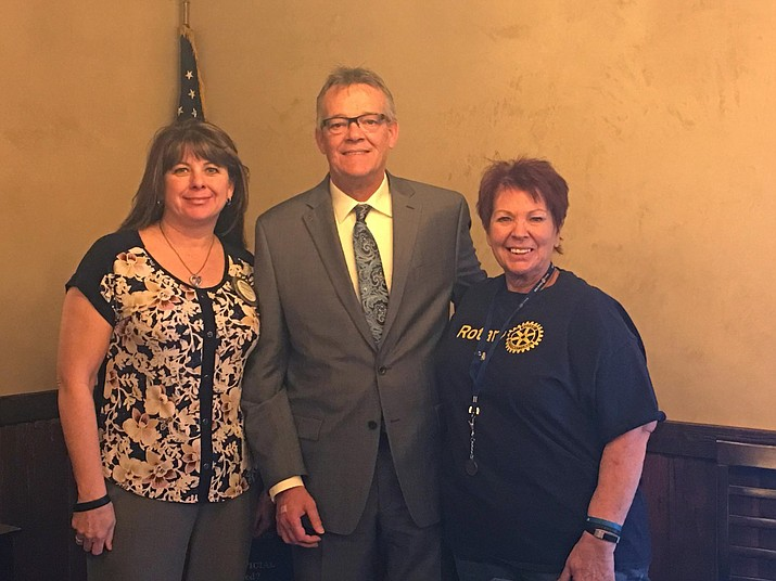 The Grand Canyon Rotary Club welcomed new member Phil Crouch at its meeting March 27. Crouch is the rooms manager at the Best Western Squire Inn in Tusayan. (Photo/Michelle Pahl)