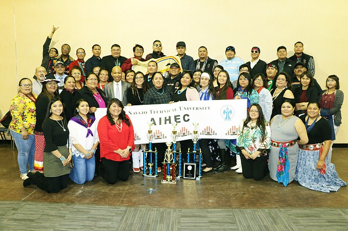 Students from Navajo Technical Univesity competed against 38 other tribal colleges and univerisities March 16-19 in Billings, Montana at the American Indian Higher Education Consortium. (Photo/Navajo Technical University