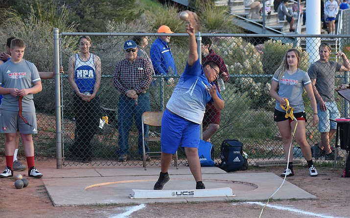 Camp Verde senior Damian Wathogame tallied at PR in the discus at the Sentinel Invitational last week. VVN/James Kelley