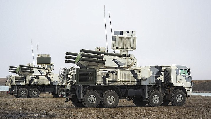 A Pantsir S1 of the Russian Arctic Troops. (Ministry of Defence of Russian Federation photo, cc-by-sa-4.0, https://bit.ly/2HXGrqH)