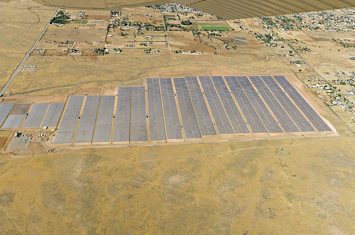 The Chino Valley Solar Plant currently provides 19 megawatts of solar energy to Arizona Public Service (APS) customers. (Arizona Public Service/Courtesy)