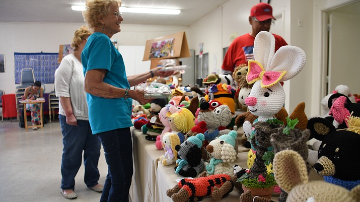 Kathryn Heidenrich Adult Center hosted its spring craft fair Saturday, April 6. They host two craft fairs a year, one in the spring and the other one closer to the fall. (Photo by Vanessa Espinoza/Daily Miner)