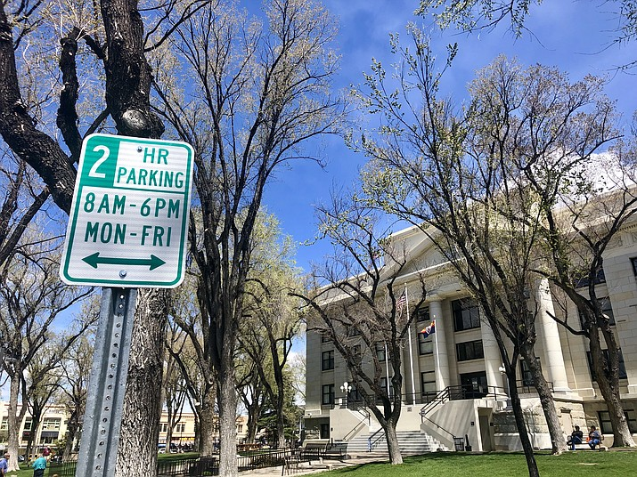 "Downtown Prescott's longstanding two-hour parking limit sends a message to visitors of ""Welcome to Prescott, but only stay two hours,"" according to the recently released analysis by ""Flip this Town"" consultant Ron Drake. The Prescott City Council will hear a presentation on the analysis at its 2 p.m. Tuesday, April 9, study session. (Cindy Barks/Courier)"